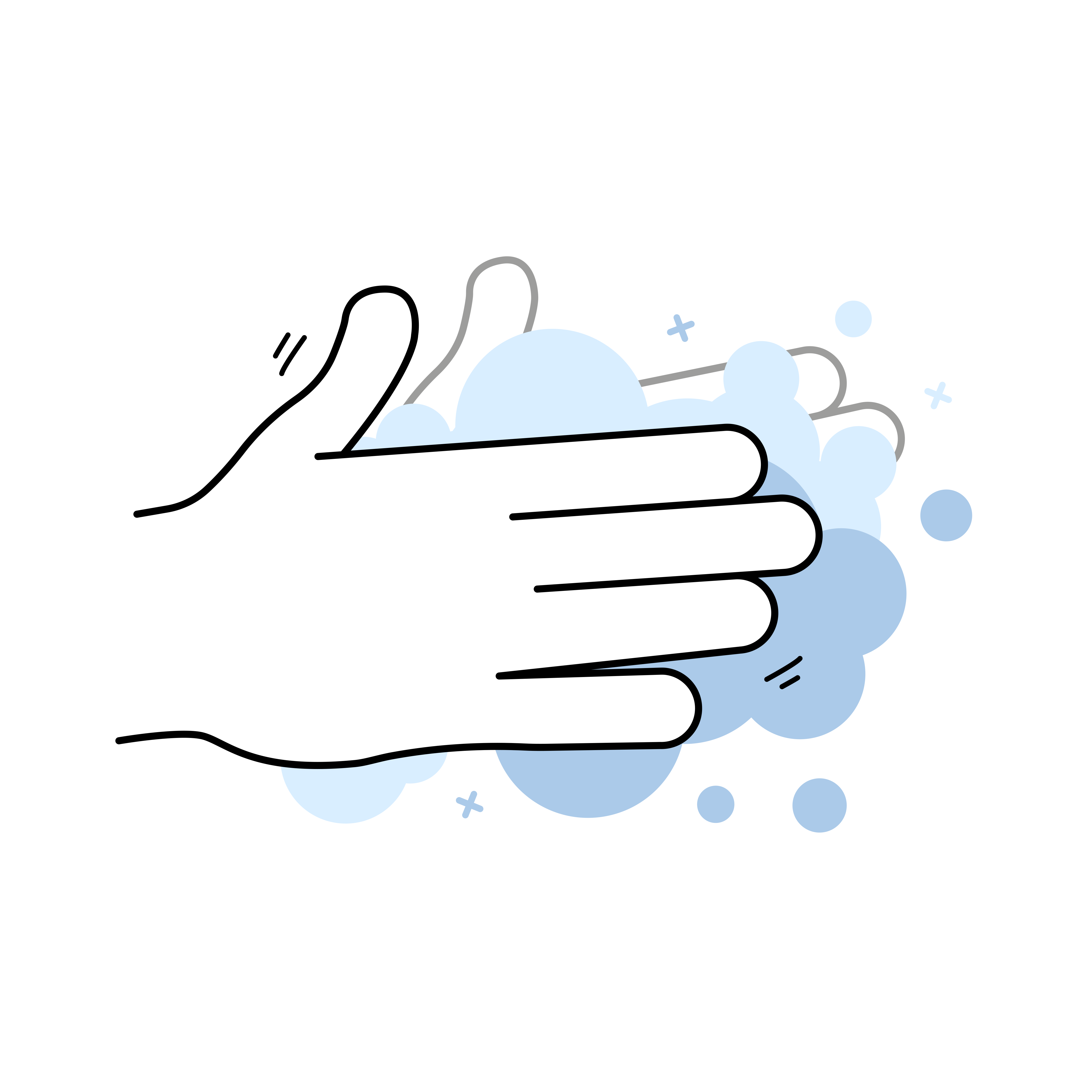 Inserting Contact Lenses - Washing Hands